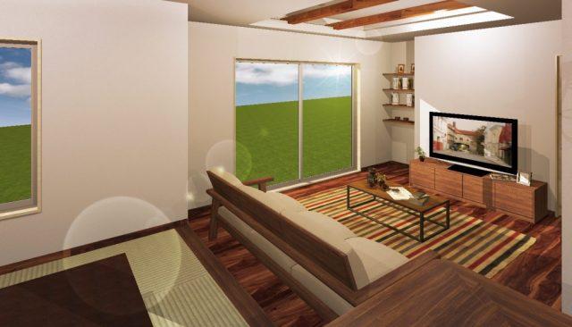 カフェテイストで機能性を兼ね備えたデザイン住宅完成です